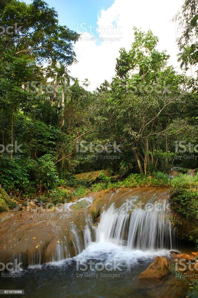Beautiful Waterfall in Soroa, Viñales, Cuba photo libre de droits