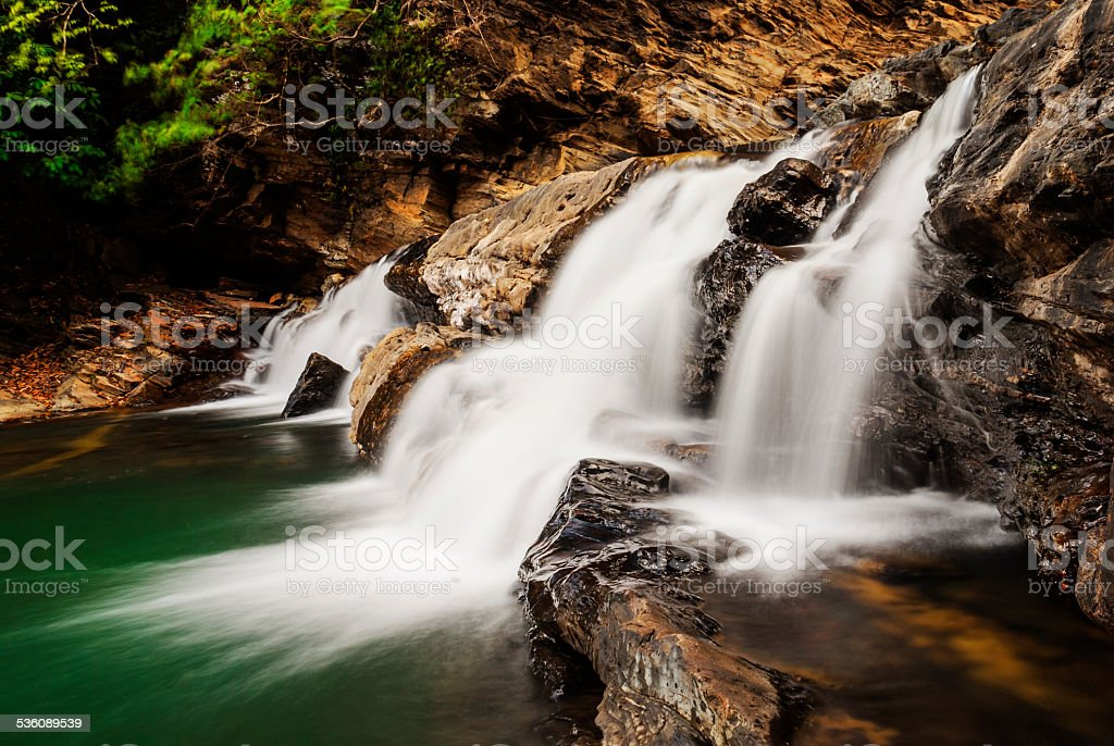 Beautiful Waterfall in Western Ghats Karnataka India stock photo