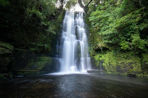 beautiful waterfall of new zealand