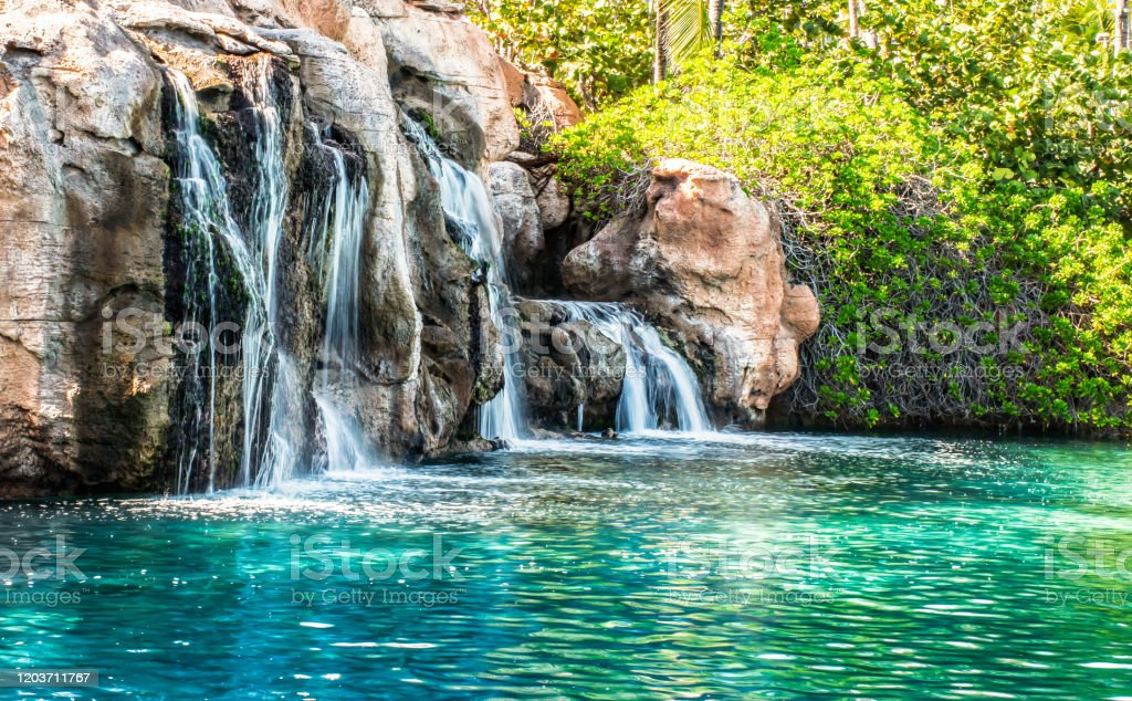 Waterfall River Nature Landscape HD POSTER