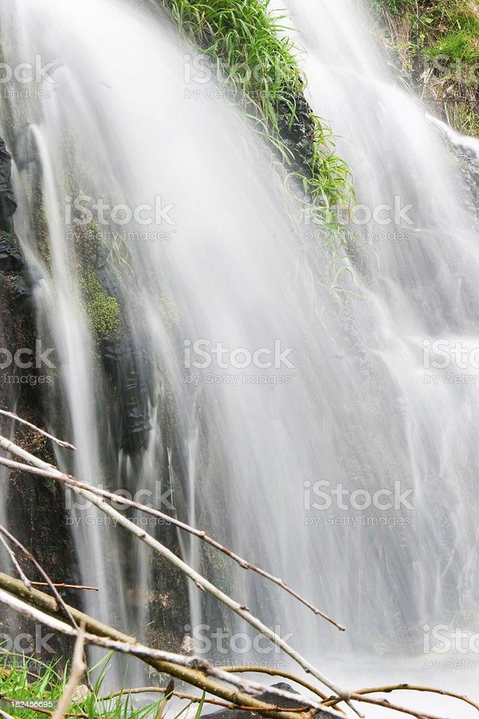 Hermosa cascada. foto de stock libre de derechos