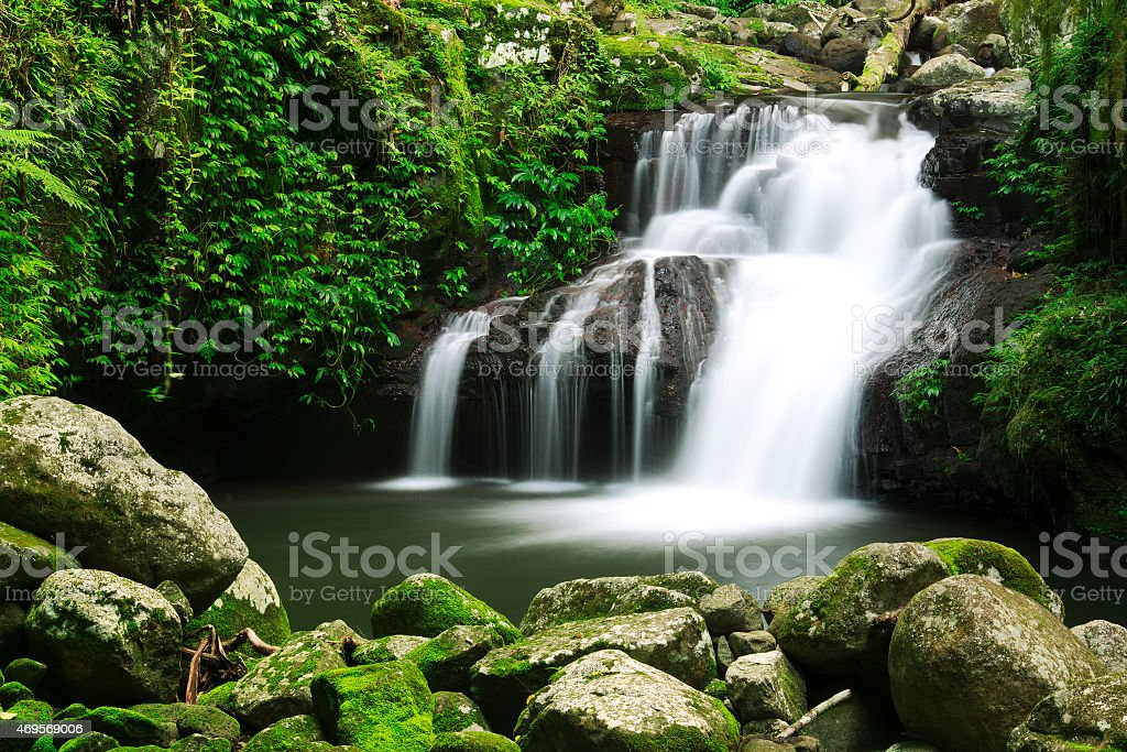Beautiful Waterfall stock photo
