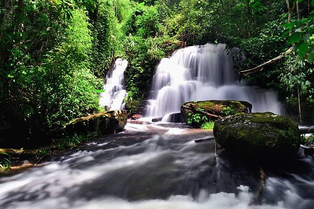 Beautiful waterfall stock photo