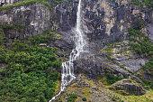 beautiful waterfalls in the woods, Norway