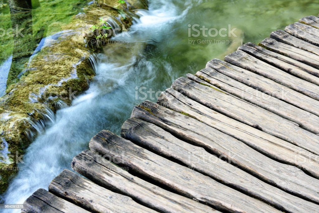 beautiful waterfalls - Royalty-free Bridge - Built Structure Stock Photo
