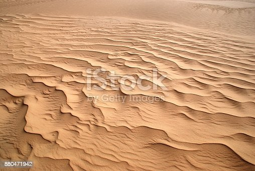 678719470 istock photo Beautiful wave pattern in the desert sand 880471942