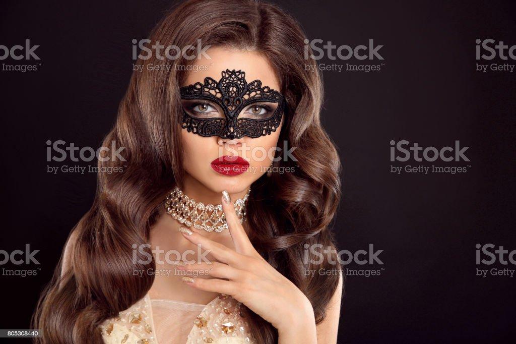 Schönes Welliges Haar Schönheit Glamour Frau Mit Luxuriösen Langes