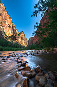 Nice view riverside walk trail at Zion National Park