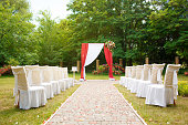 istock beautiful wedding arch 1324575940