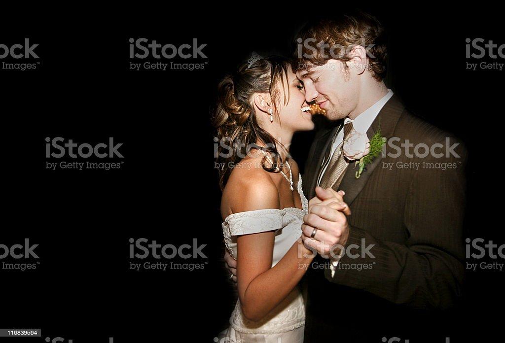 Beautiful Wedding Bride and Groom Couple Dancing stock photo