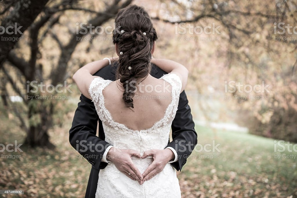 Beautiful wedding bride stock photo
