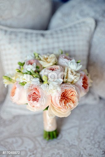 istock Beautiful wedding colorful bouquet for bride 817045572
