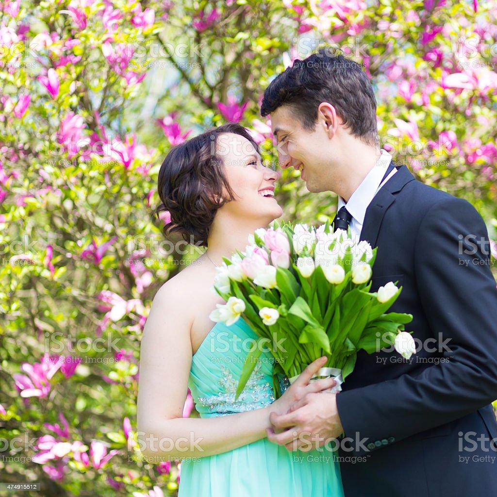 Schöne Hochzeit Paar. Lizenzfreies stock-foto