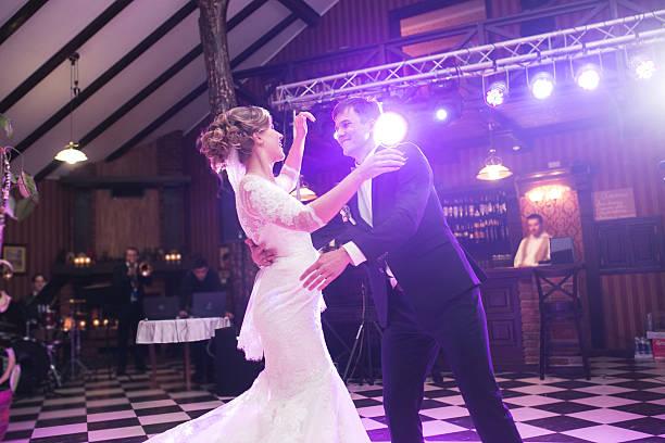 Beautiful wedding dance stock photo