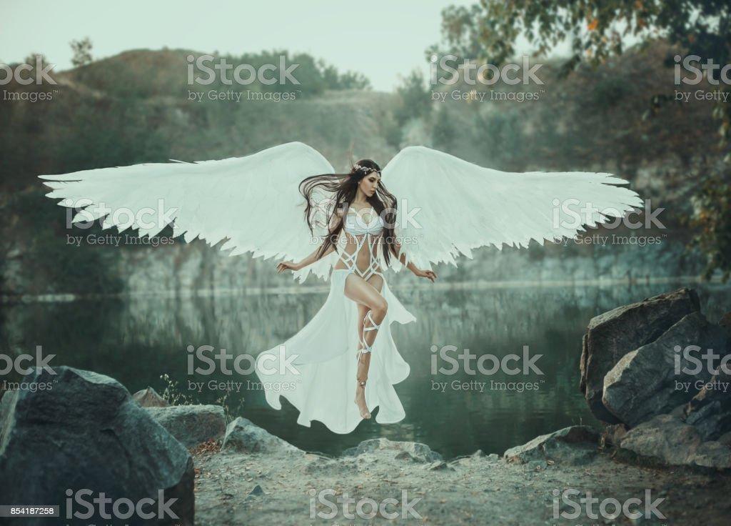 A beautiful white archangel stock photo