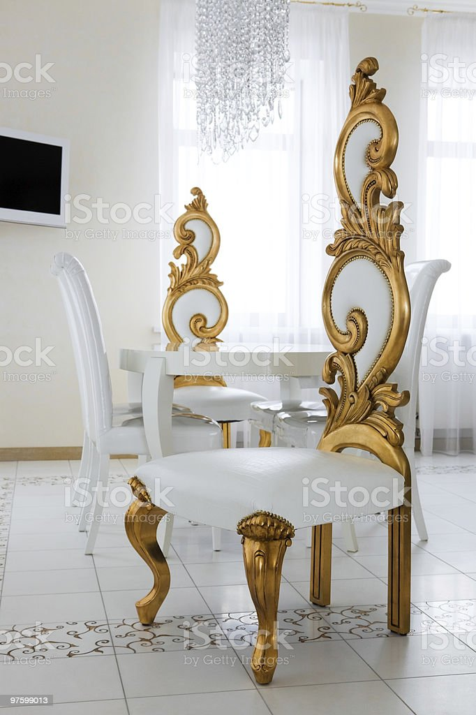 beautiful white chairs royalty-free stock photo