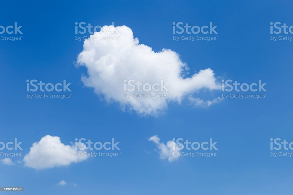 Beautiful white cloud floating on clear blue sky background royalty-free stock photo