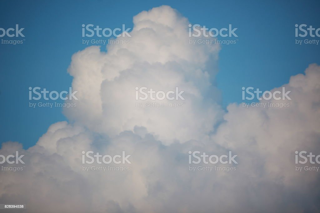 Beautiful white clouds in blue sky stock photo