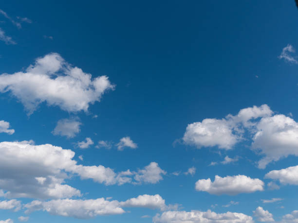 beautiful white clouds in the blue sky - cloud sky stock pictures, royalty-free photos & images