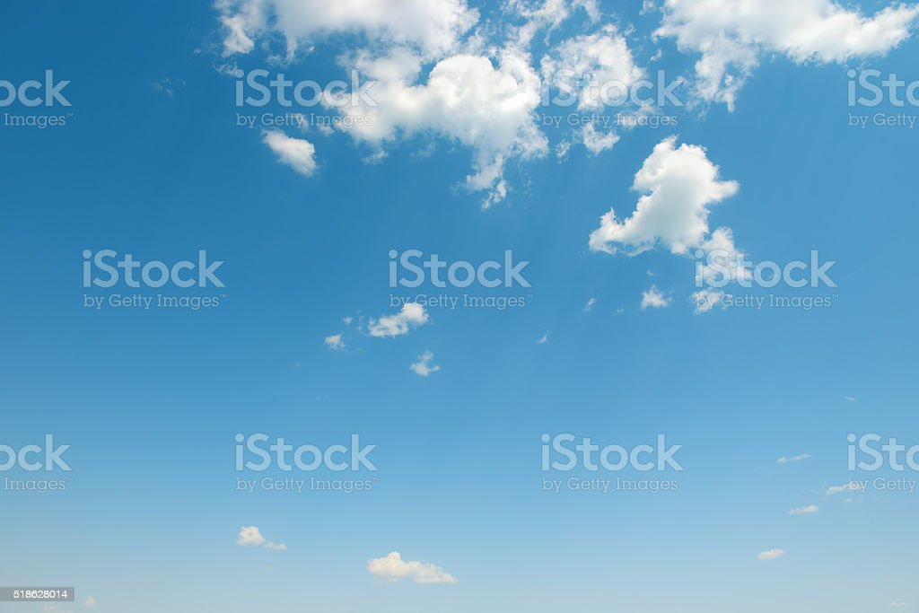 beautiful white clouds stock photo