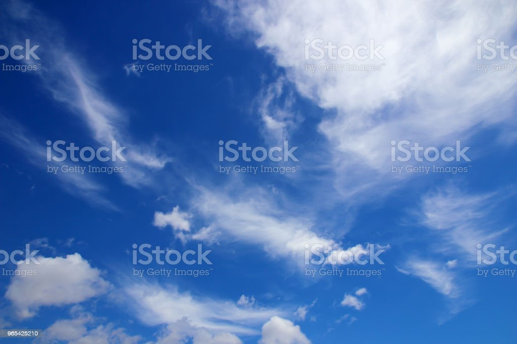 Beautiful white clouds with blue sky background royalty-free stock photo