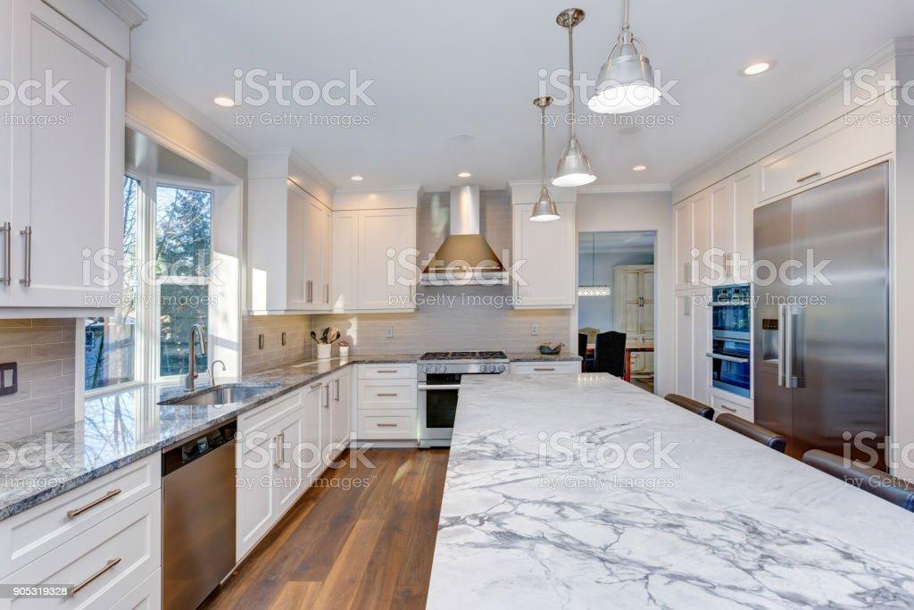 Beautiful White Kitchen Design Stock Photo Download Image Now Istock