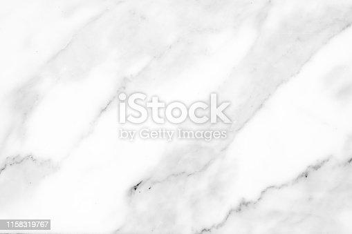 istock Beautiful white marble texture. 1158319767