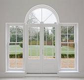 istock beautiful white patio doors 174941559
