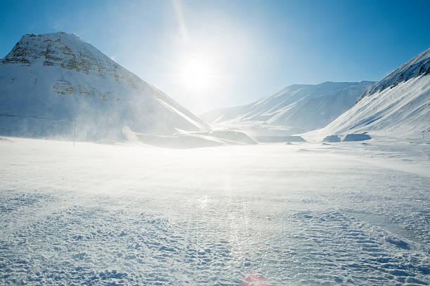 Cтоковое фото Красивая белая snowy landscape