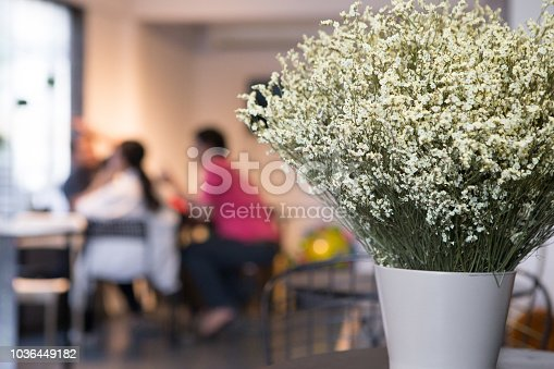 Beautiful white statice flower on the cafe background blurred stock beautiful white statice flower on the cafe background blurred stock photo more pictures of abstract istock mightylinksfo
