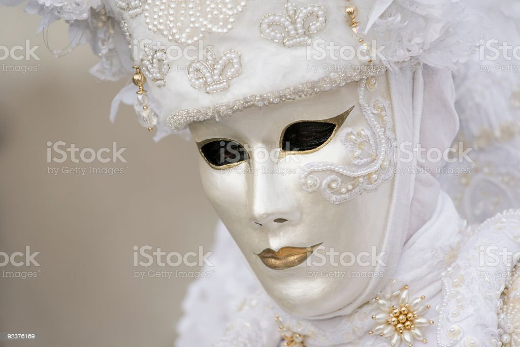 Beautiful white Venetian mask royalty-free stock photo