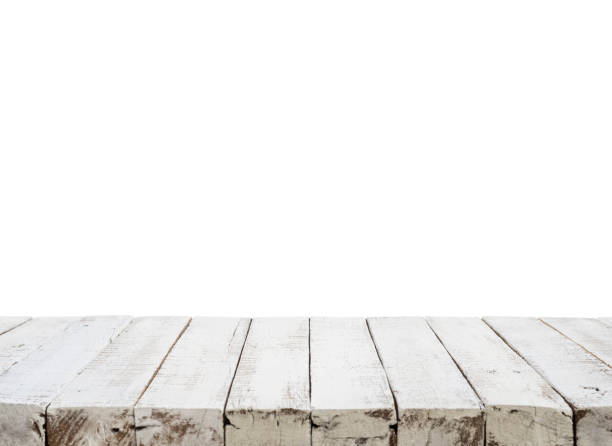 beautiful white wooden texture table background. - diminishing perspective stock pictures, royalty-free photos & images