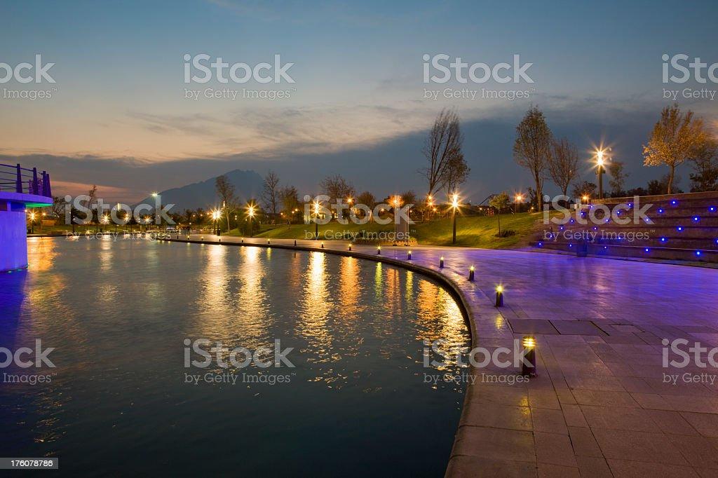 Beautiful wide shot of Monterrey City stock photo