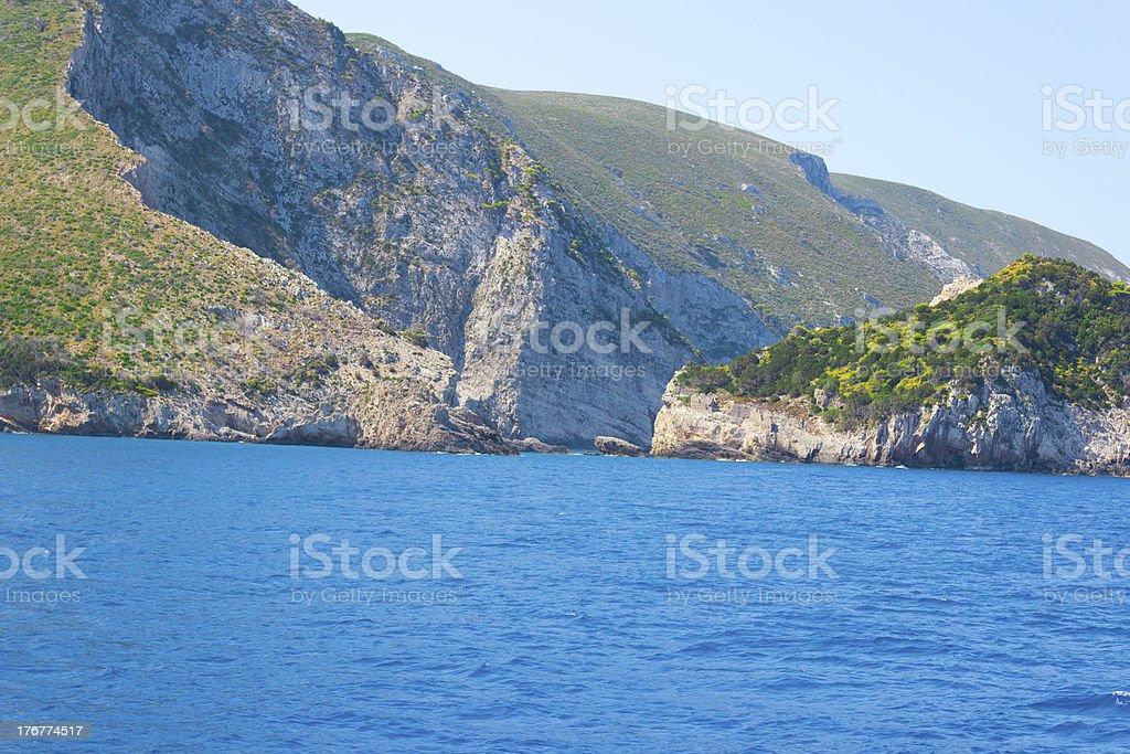 Beautiful wild coastline royalty-free stock photo