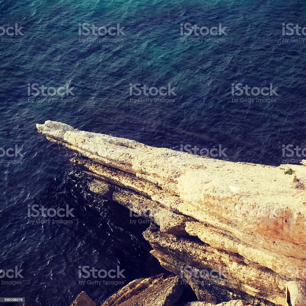 Beautiful wild costline of Costa Blanca, Spain royaltyfri bildbanksbilder