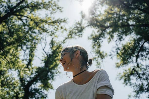 Beautiful wild girl portrait stock photo