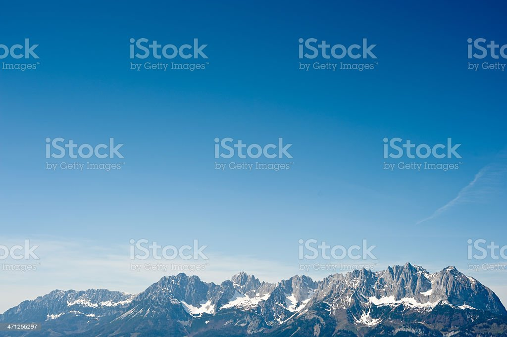Beautiful Wilder Kaiser Mountain Range royalty-free stock photo