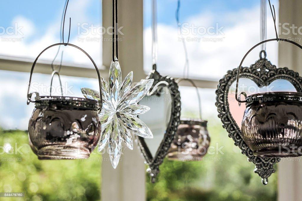 beautiful wind chime stock photo