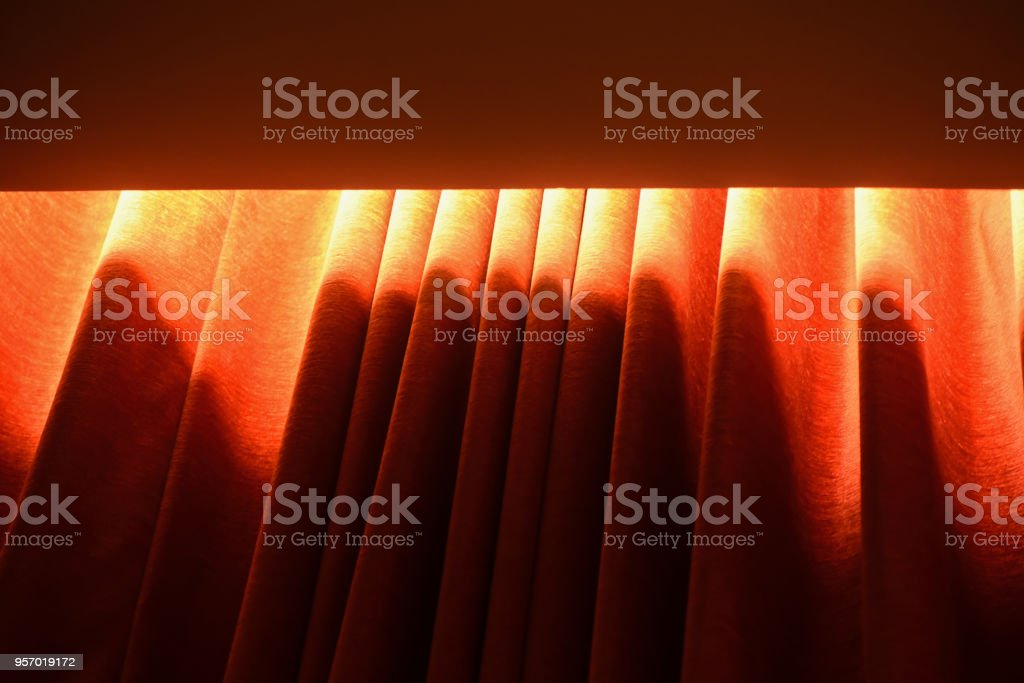 Beautiful windows curtain clothes abstract background photo stock photo