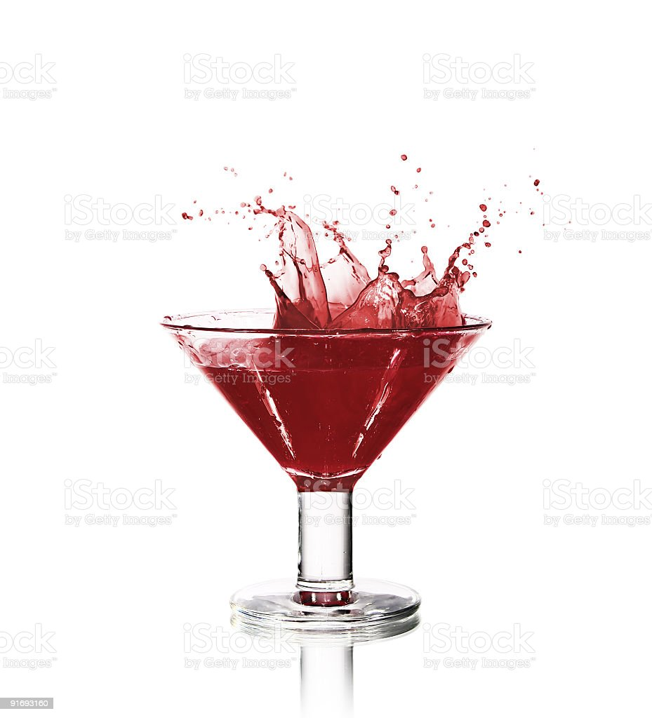 Beautiful wine splash royalty-free stock photo