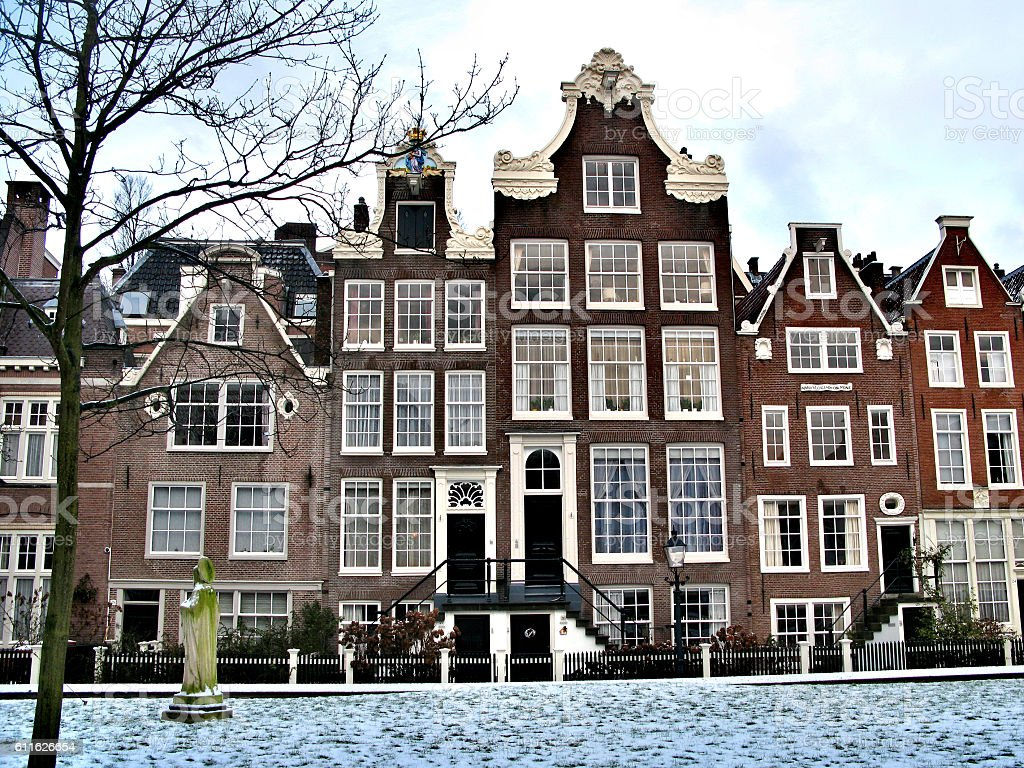Beautiful winter Amsterdam, Holland stock photo