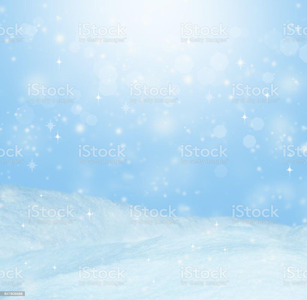 Beautiful winter background. Landscape with bokeh stock photo