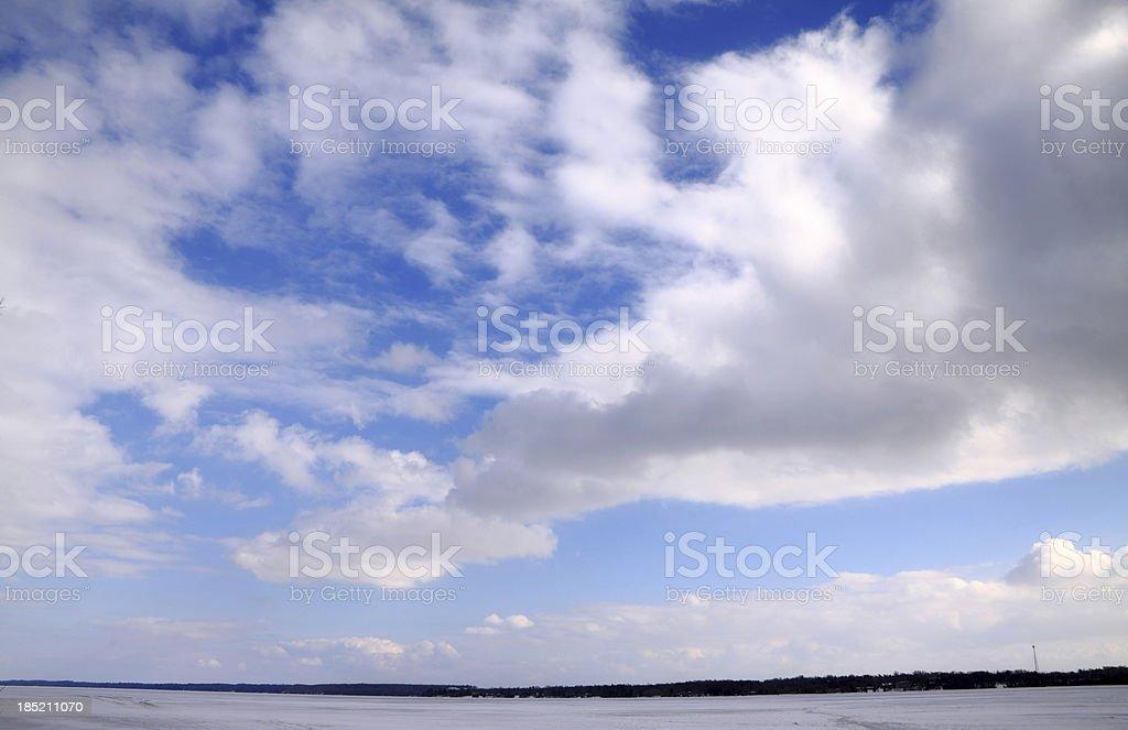Beautiful Winter Background stock photo