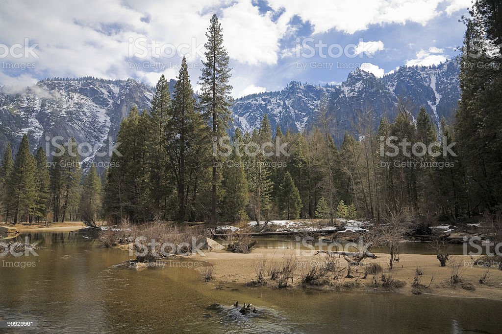Beautiful winter day in Yosemite royalty-free stock photo