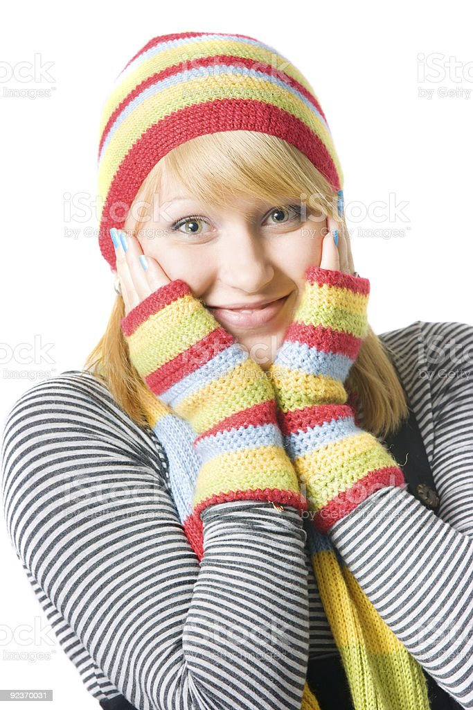 Beautiful winter girl royalty-free stock photo