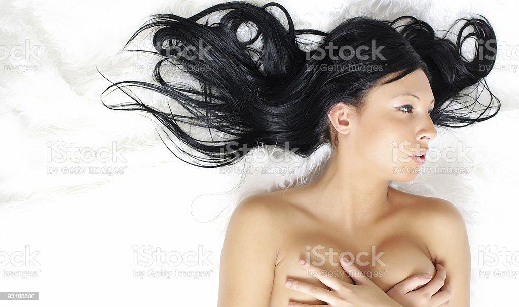 아름다운 겨울맞이 여자아이 - 로열티 프리 겨울 스톡 사진