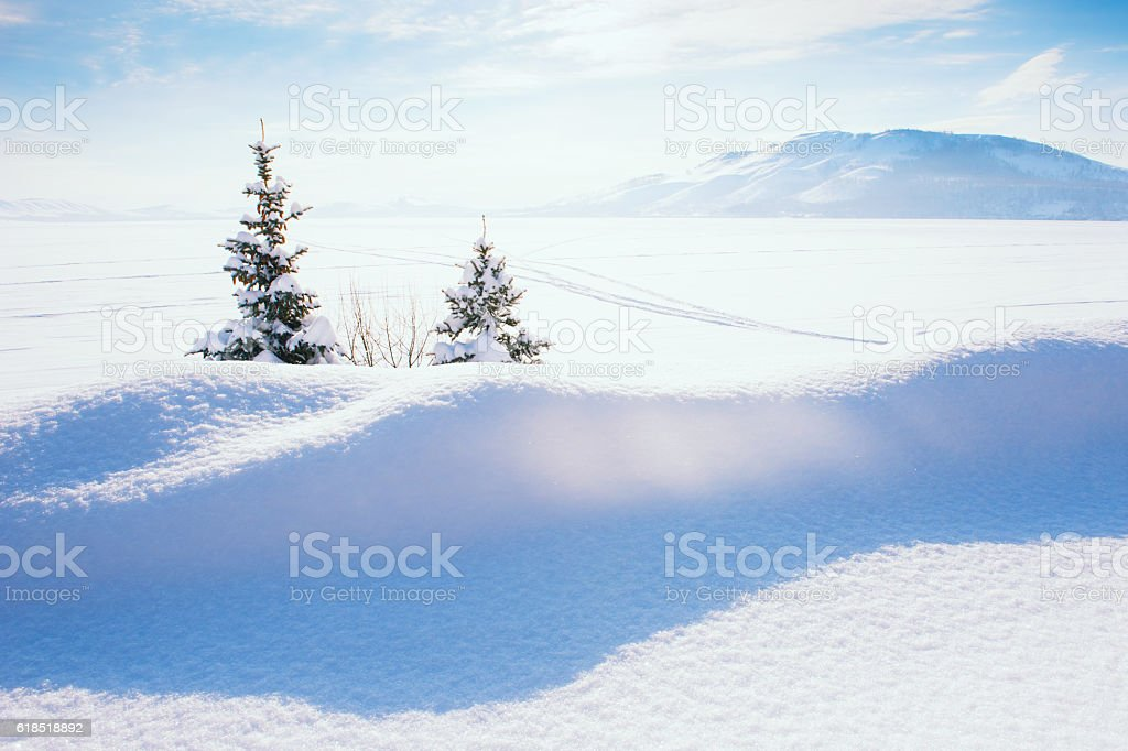 Beautiful winter landscape. stock photo