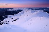 Beautiful winter landscapes in Ciucas Mountains