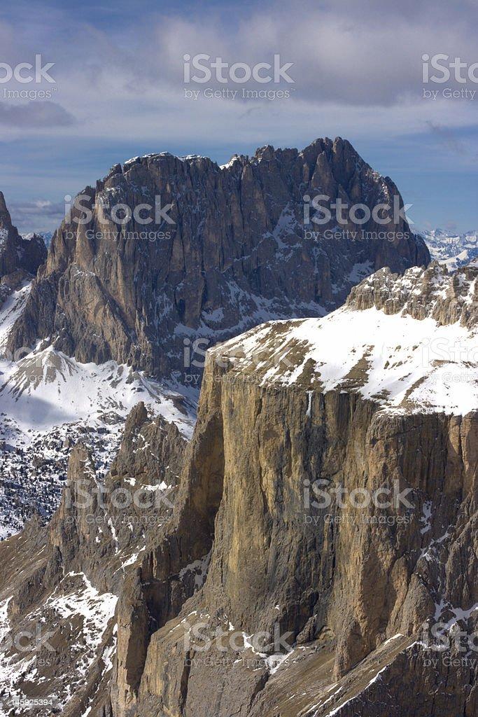 Beautiful winter mountain landscape royalty-free stock photo