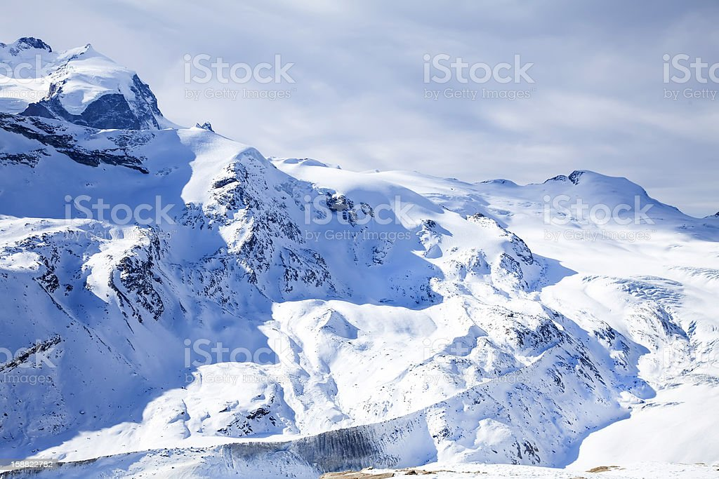 Beautiful winter snow landscape in Switzerland royalty-free stock photo